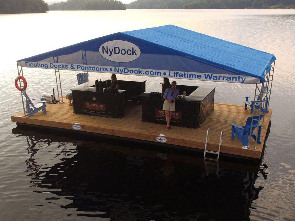 Floating picnic table nydock floating docks pontoons pipefusion floating picnic table dock boats watchthetrailerfo