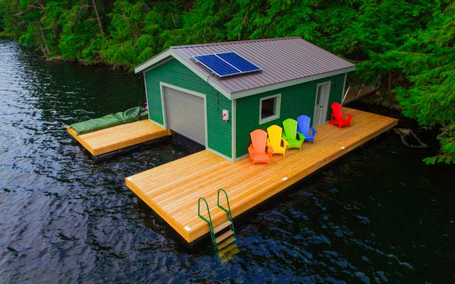 Boathouses - NyDock Floating Docks & Pontoons PipeFusion ...