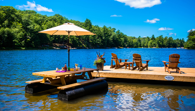 Floating picnic table nydock floating docks pontoons pipefusion case studies watchthetrailerfo