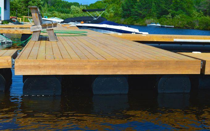 Three pontoons